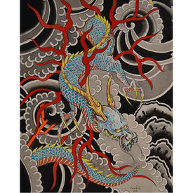 chinese dragon japanese dragon traditional asian tattoo artwork lightning mythical creatures painting traditional tattoo flas