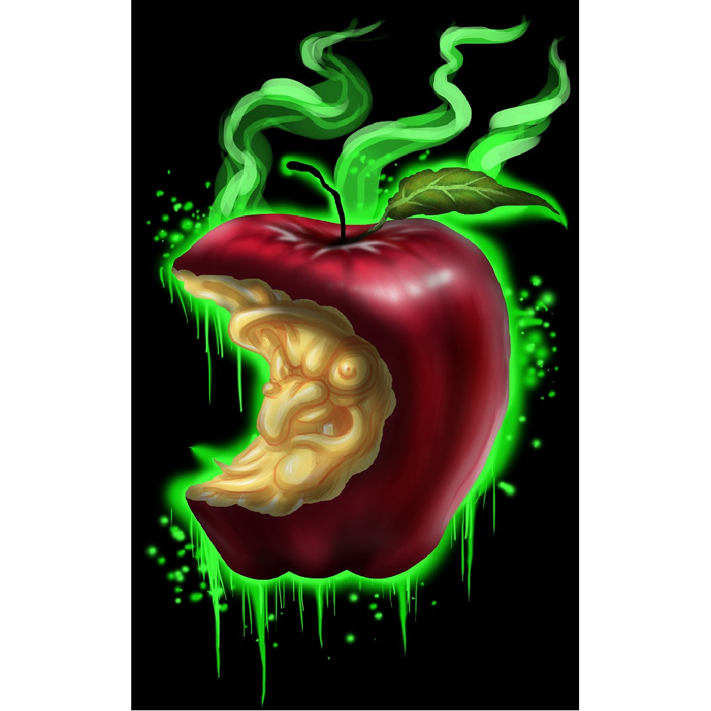Witch Apple by Lefty Joe Paper Rolled Art Unframed Giclee Print