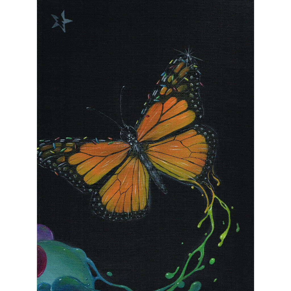 monarch butterflies butterfly artwork pretty girls bedroom nursery colorful moth rainbow alternative monarch women ladies mom