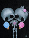 skulls artwork ice cream candy big eyes painting traditional tattoo flash designs color artwork artist black wood home decor