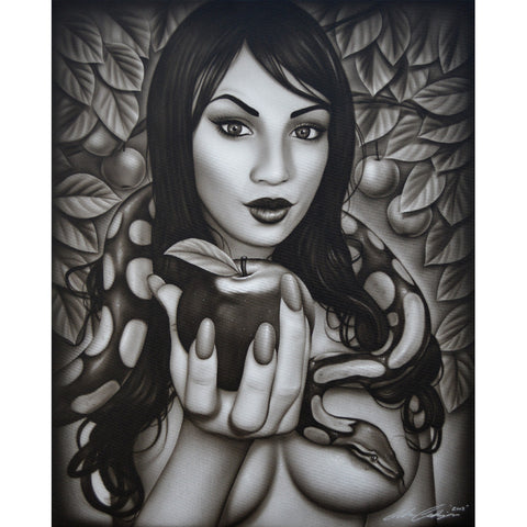 Eve's Temptation by Spider Snake Tattoo Unframed Canvas Art Print