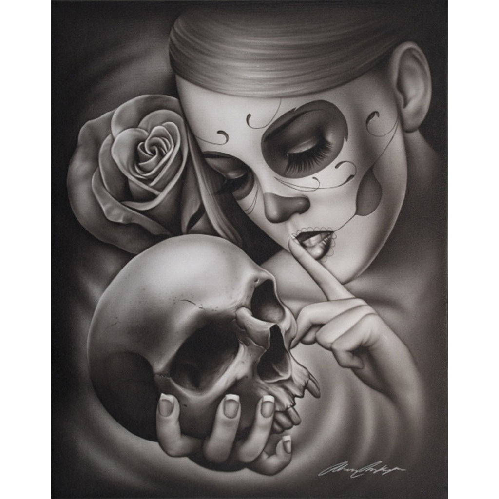 Hasta La Muerte by Spider Mexican Tattoo Unframed Paper Art Print