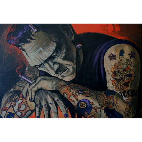 Kustom Kulture Frankenstein Tattoo Art | Moodswings Inc