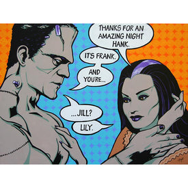 Monster Love Affair Lily Munster Art | Moodswings Inc