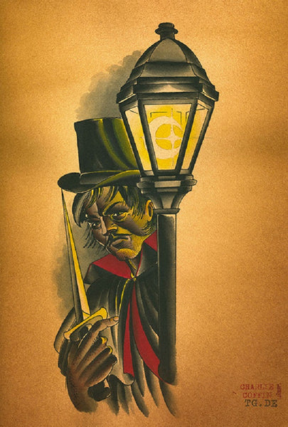 The Ripper by Charlie Coffin Rolled Canvas Art Giclee Print