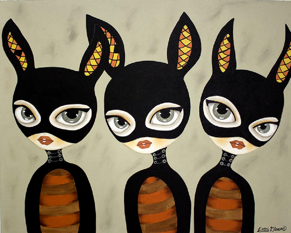 Three of a Kind by Dottie Gleason Rolled Canvas Art Giclee Print