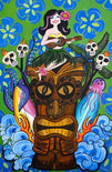 Tiki Girl by Melody Smith Rolled Canvas Art Giclee Print