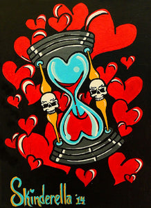skulls alternative artwork pop art picture painting traditional tattoo flash designs color artwork artist black wood home dec