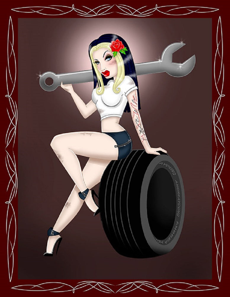 Tire Girl by Andrea Young Rolled Canvas Art Giclee Print