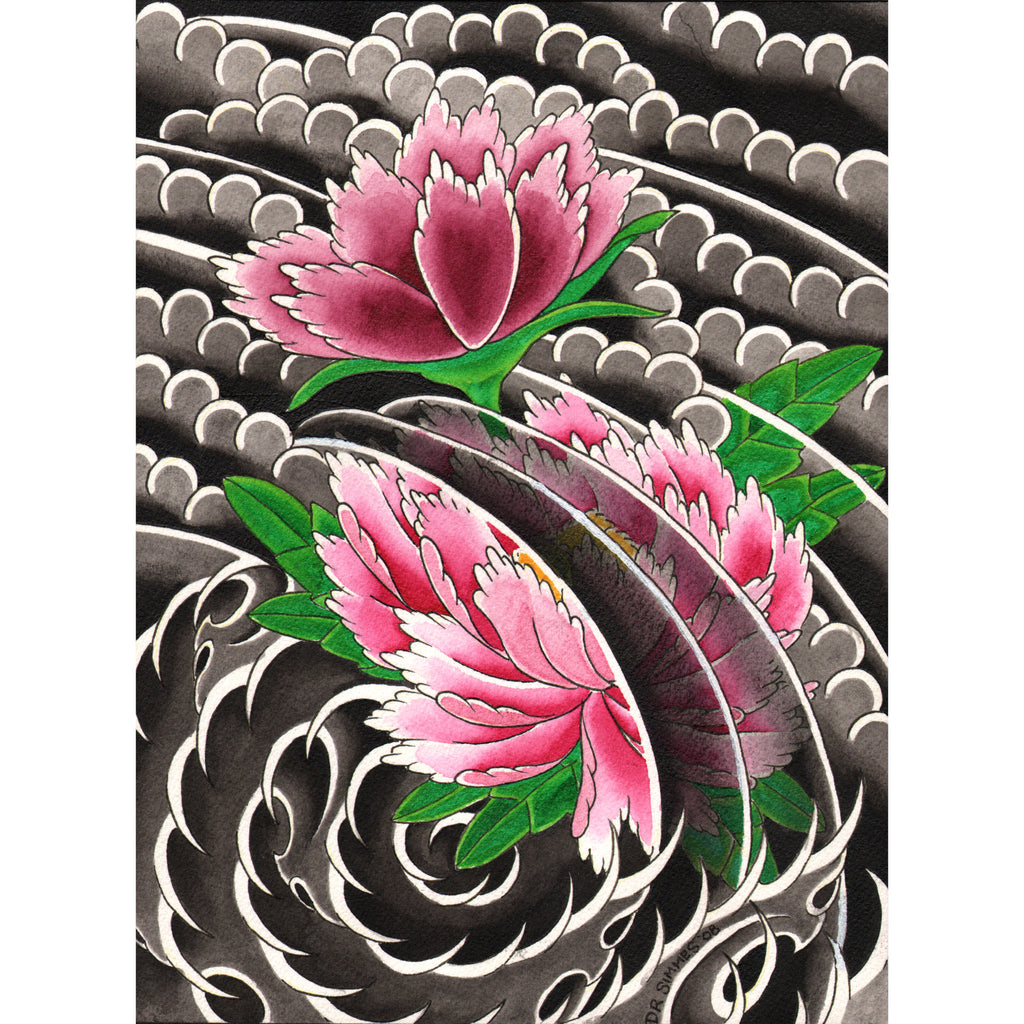 Peony I by David Simmes Rolled Canvas Art Giclee Print