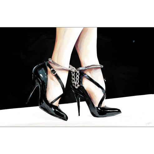 ready to hang high quality sexy artwork for men large canvas sofa bachelor pad home house high heels feet ankles cuffs famous