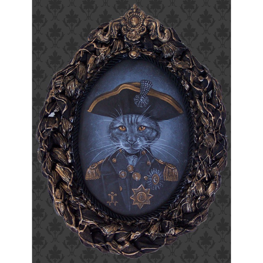 haunted house haunted mansion animal portraits frame taxidermy painting traditional tattoo flash designs color artwork artist
