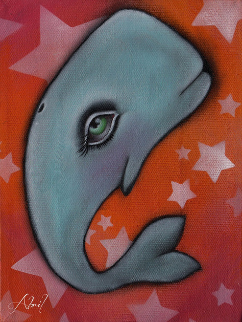 Walter by Abril Andrade Whale Nursery Unframed Fine Art Print