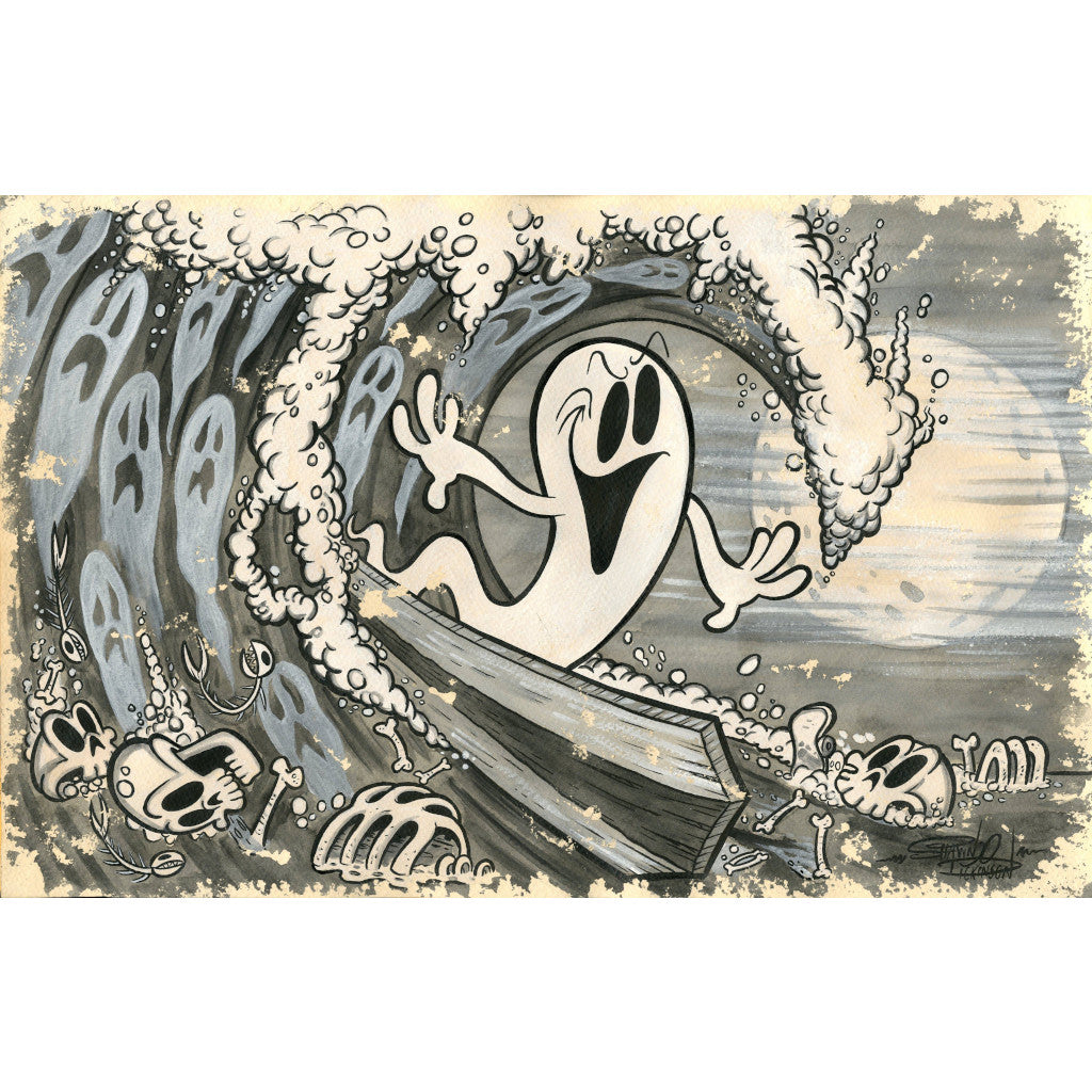 Beyond The Watery Grave by Shawn Dickinson Surf Rolled Paper Art Print