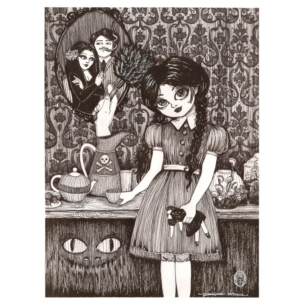 Wednesday Addams by Rachel Walker Rolled Canvas Art Giclee Print