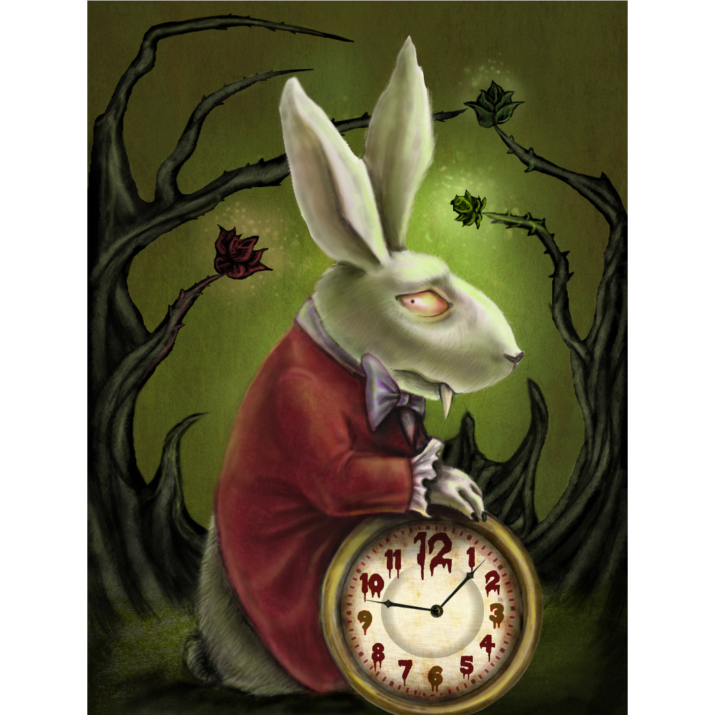 Levin White Rabbit by Diana Levin Paper Rolled Art Unframed Print