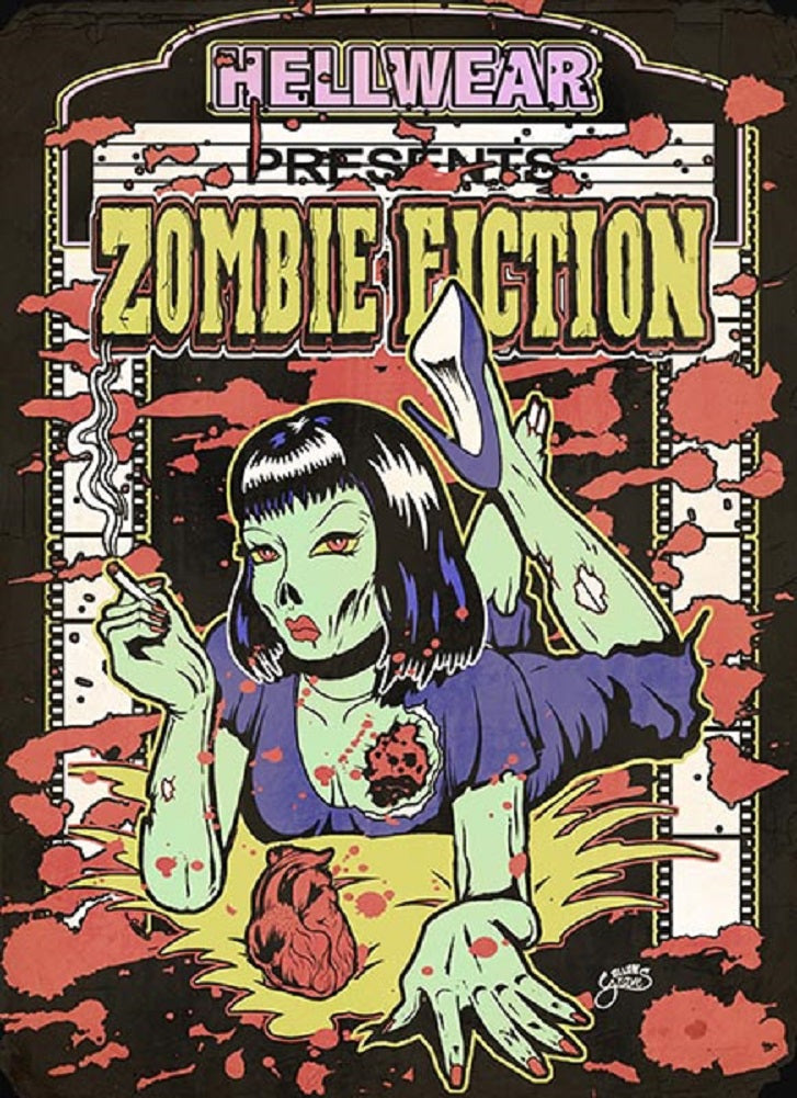 Zombie Fiction by Allan Graves Vintage Movie Poster Canvas Art Print
