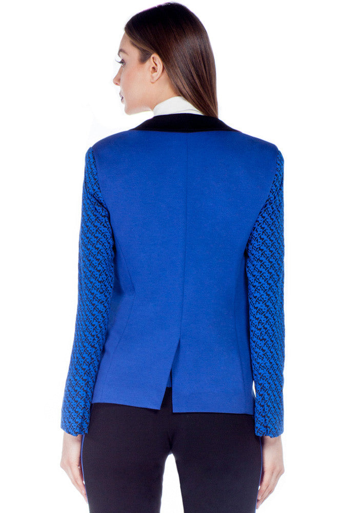 Graphic Knit Blazer