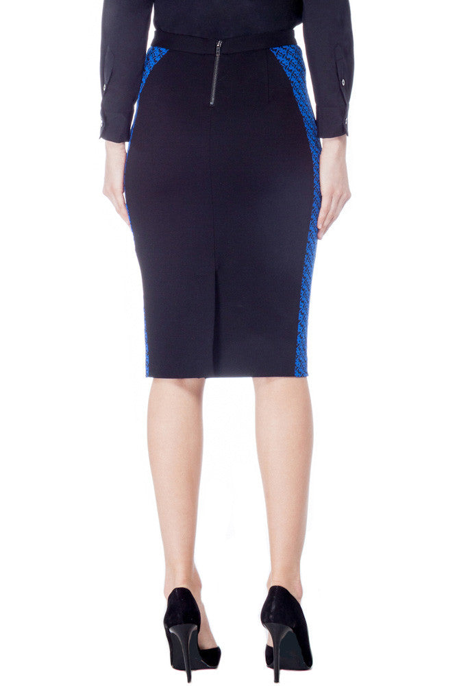 Graphic Knit Pencil Skirt
