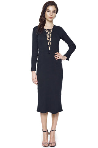 Lace Slip Wrap Dress