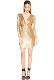 Deep V Sequin Dress - Dresses
