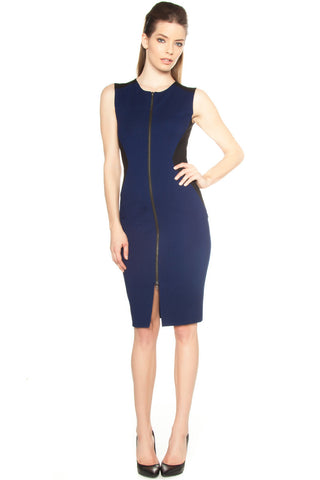 Cut Out Zipper Dress