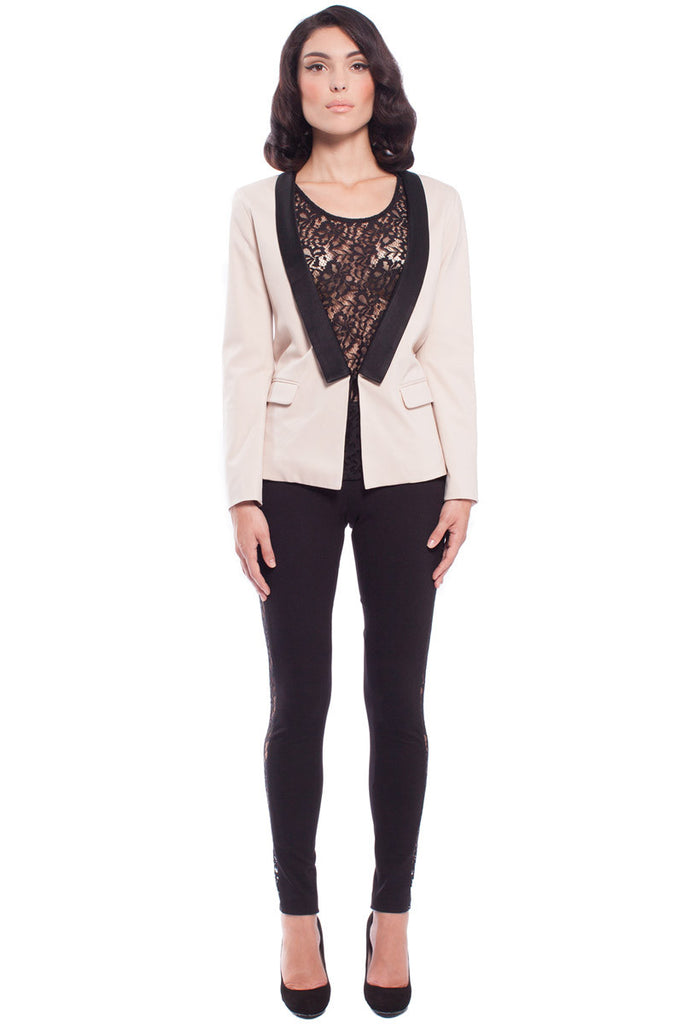 Dinner Jacket Beige - Blazers and Tops