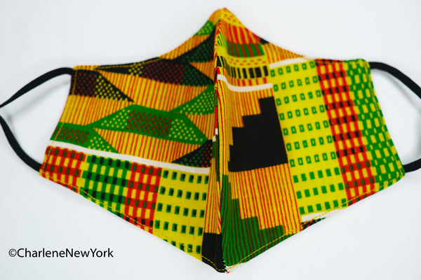 Mask - Kente Orange