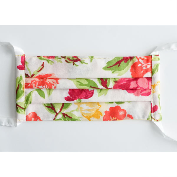 Masks - Floral Red & White