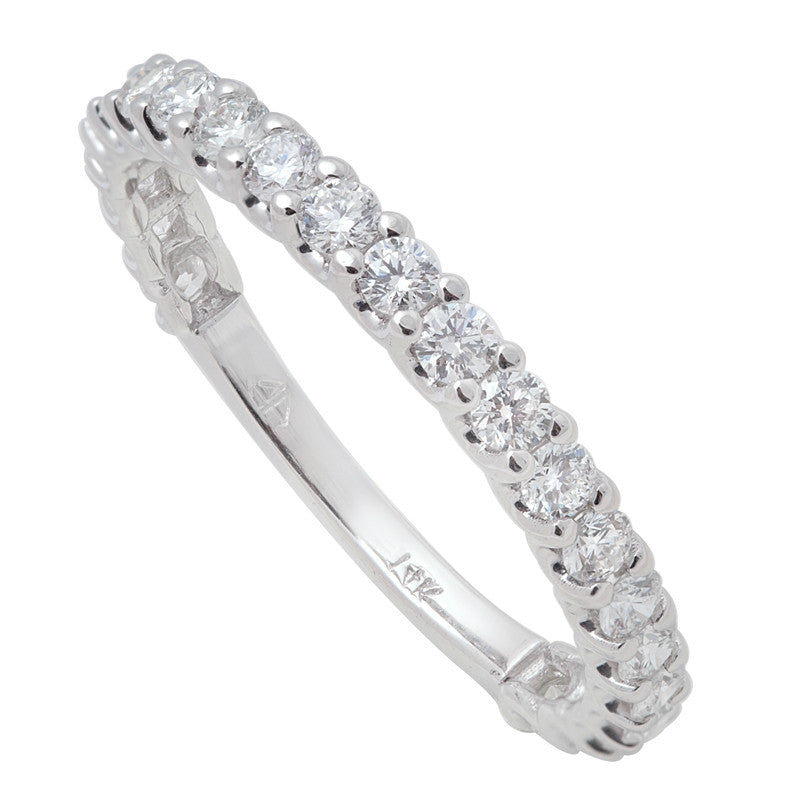 Diamond Shared Prong Wedding Band