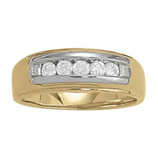 Diamond Channel Set Wedding Band