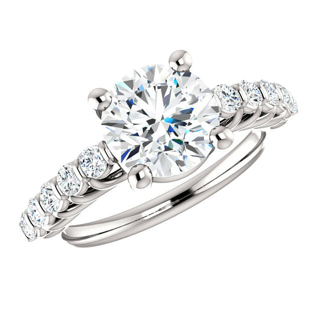 2 Carat Forever One Moissanite & Diamond Ring