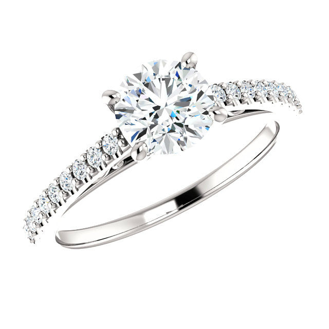 6mm Forever One Moissanite & Diamond Ring