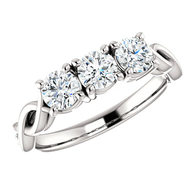 Infinity Forever One Moissanite Anniversary Ring
