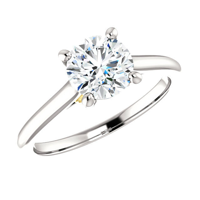 Infinity 14k Two Tone Forever One Moissanite Ring
