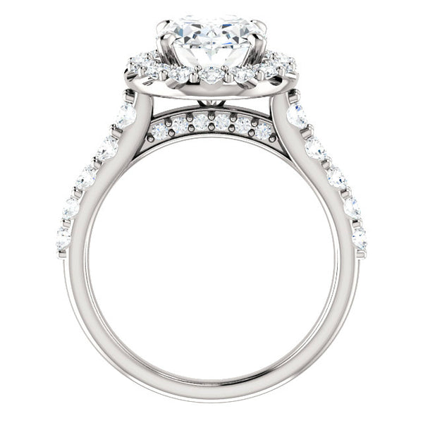 3.00 Carat Oval-Cut Forever One Moissanite & Diamond Halo Ring