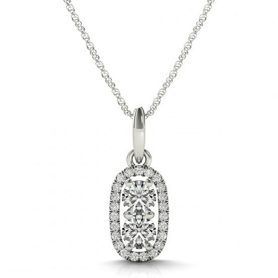 1 Carat Forever One Moissanite & Diamond Necklace
