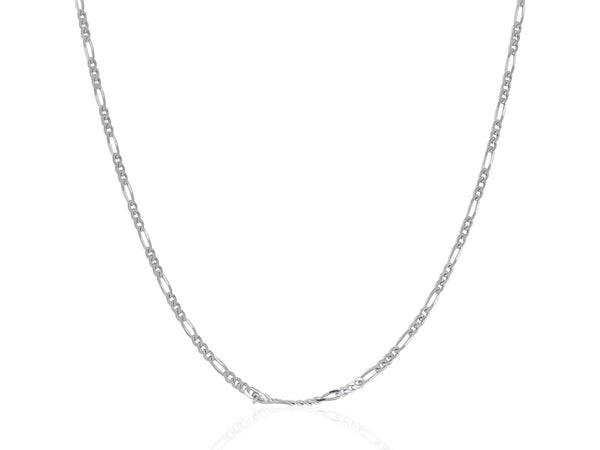 14k White Gold Figaro Chain (2mm)