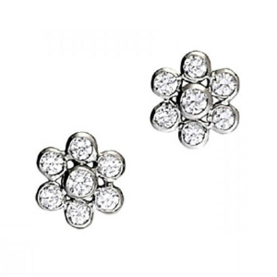 1.50 Carat Diamond Bezel Stud Earrings