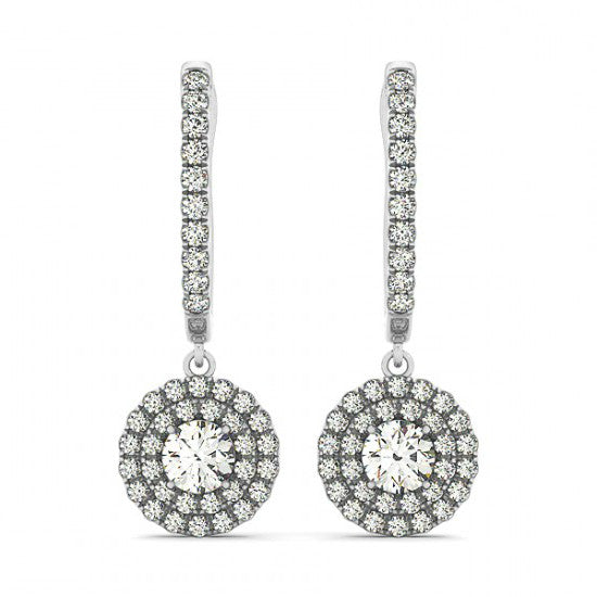 1 Carat Forever One Moissanite & Diamond Dangle Earrings