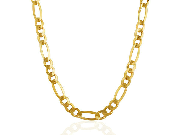 14k Yellow Gold Figaro Chain (7mm)