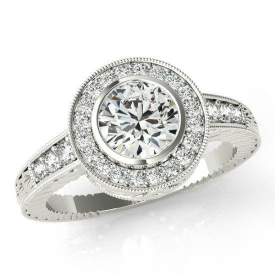 Vintage Forever One Moissanite & Diamond Ring