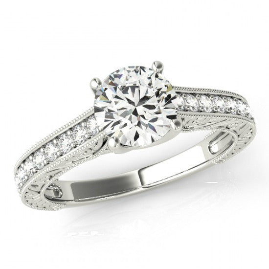 Vintage Style Diamond Engagement Ring