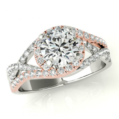 Forever One Moissanite & Diamond Multi-Row Ring