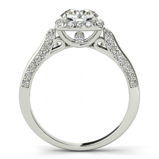 1.27 ct. tw. Diamond Vintage Inspired Engagement Ring 14k White Gold