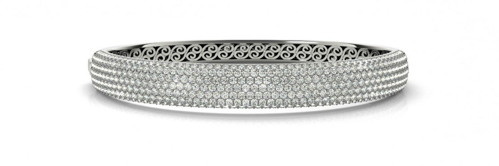 7 Carat Diamond Pave Bangle