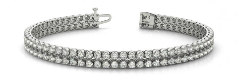1.85 Carat Diamond Multi Row Tennis Bracelet