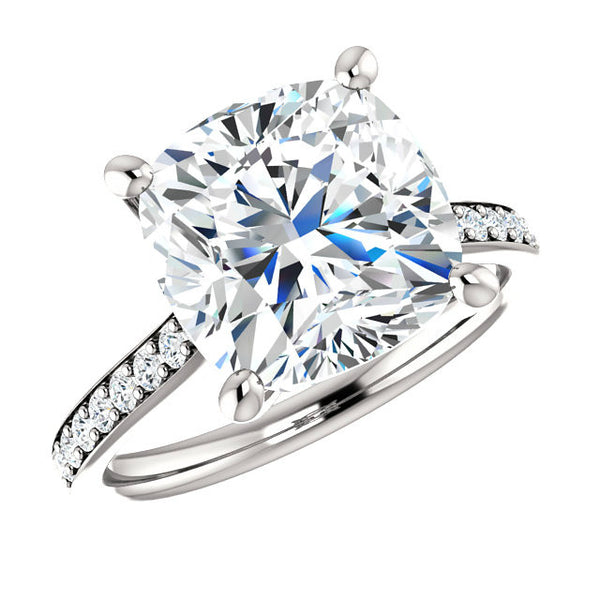 5 carat moissanite, halo rings, moissanite engagement rings, anniversary rings, high end, raven fine jewelers