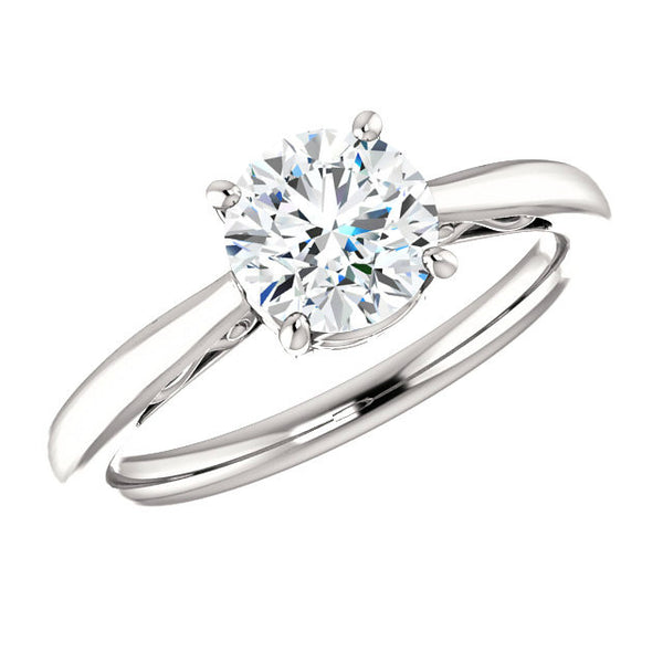 1.00 Carat Round Diamond Vintage Style Solitaire Ring