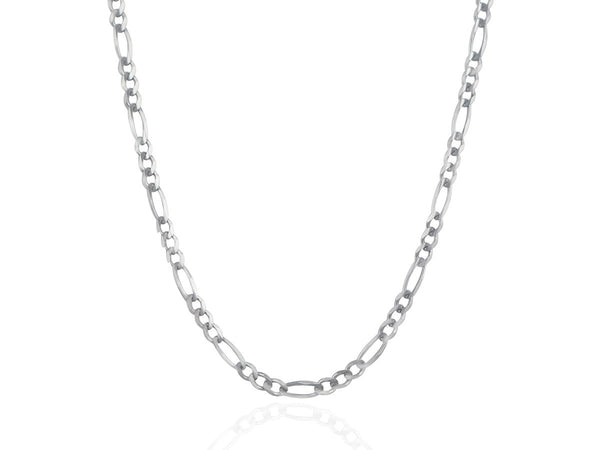 14k White Gold Figaro Chain (4mm)